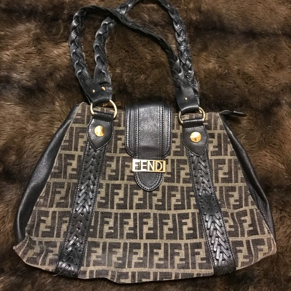 1e303527904 Fendi Bags   Rare Vintage Velvet And Leather Ff Bag   Poshmark